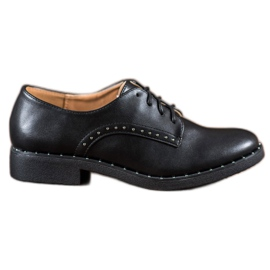 Danic negro Zapatos con circonitas.