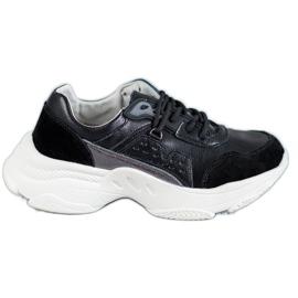 Vinceza Zapatos deportivos con cordones negro