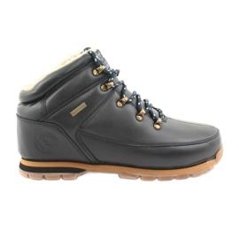 American Club marina ES39 zapatos con cordones azul marino