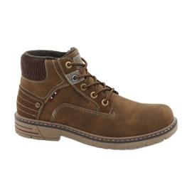 Zapatillas de trekking de cuero American Club CY37 marrón