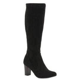 Caprice negro Botas elásticas para mujer