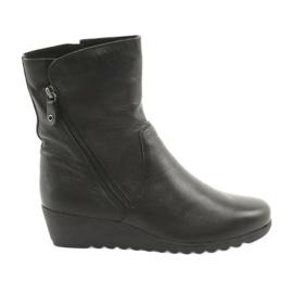 Caprice negro Zapatos de cuña
