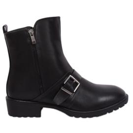 Botas planas negras para mujer G-160-1 Negro