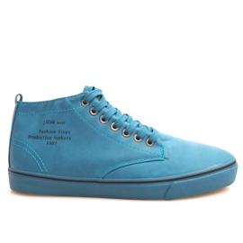 Zapatillas altas con estilo Y007 azul cielo