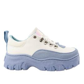 Zapatillas deportivas de mujer PF5329 blancas y azules