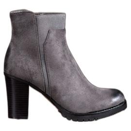 S. BARSKI Botas grises de mujer