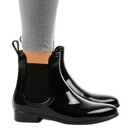 Botas cortas negras con elástico ZA-3 negro
