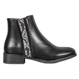 Filippo Botas de moda estampado de serpiente negro