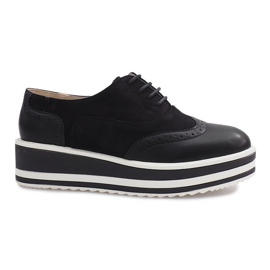 Zapatos con cordones Paulette negros