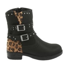 Botas de leopardo negro American Club jets