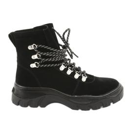 Zapatos de trapecio negros atados Sergio Leone 729