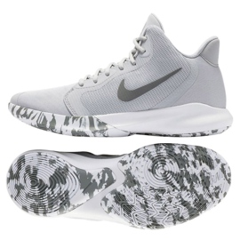 Zapatillas Nike Precision Iii M AQ7495-004 gris blanco