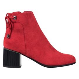 Goodin Botas de ante rojas rojo