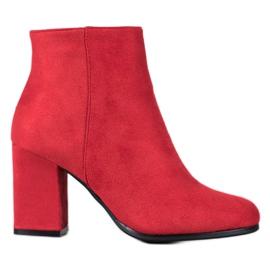Marquiz Botas de ante rojas rojo