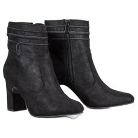 Kylie Tacones altos de gamuza negro