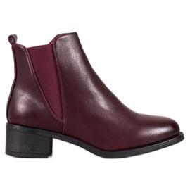 Ideal Shoes Botas clásicas con banda elástica rojo