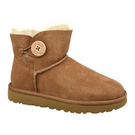Zapatos Ugg Mini Bailey Button II W 1016422-CHE marrón