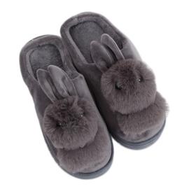 Zapatillas para mujer gris conejo MA01 gris