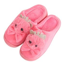 Zapatillas de mujer rosa oscuro DD112 Rojo