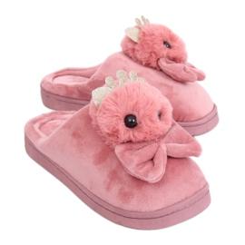 Zapatillas de mujer rosa sucio DD112 Rosa