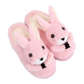 Zapatillas conejitas de mujer rosa claro MA17 Rosa