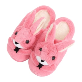 Zapatillas conejitas de mujer rosa oscuro MA17 Rojo