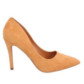Zapatos de tacón camel GG-70 Camel amarillo