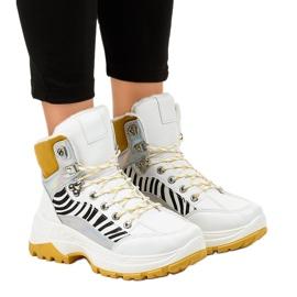 Zapatos deportivos blancos con aislamiento para mujer F-19208-2