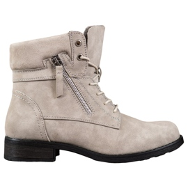 Goodin Botas beige marrón