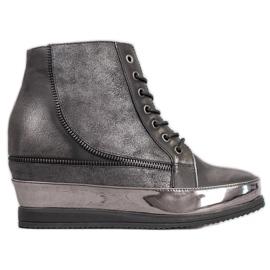 Sergio Leone Zapatillas plateadas gris