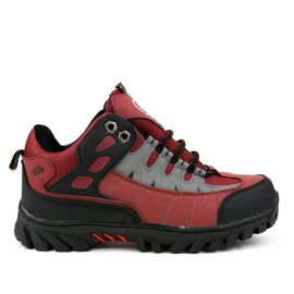 Zapatillas trekking mujer rojas W317