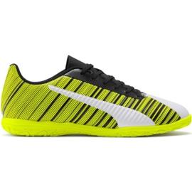 Botas de fútbol Puma One 5.4 It M 105654 04 amarillo blanco, negro, amarillo