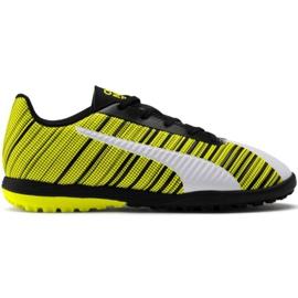 Zapatillas de fútbol Puma One 5.4 Tt Jr 105662 03 blanco, negro, amarillo amarillo
