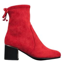 Goodin Elegantes botas rojas rojo