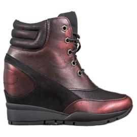 Sergio Leone Zapatillas burdeos rojo