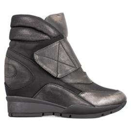Sergio Leone Zapatillas de velcro gris