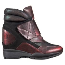 Sergio Leone Zapatillas de velcro rojo