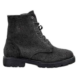 Sweet Shoes Botas de ante negras negro