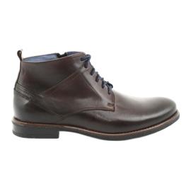 Botas de cuero con cremallera Nikopol 702 marrón