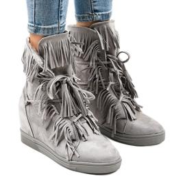 Zapatillas grises H6301A-26