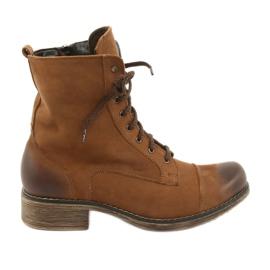 Botas de trabajo con cremallera Angello 2065 marrón
