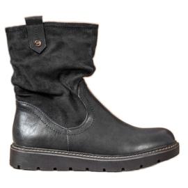 Ideal Shoes Trabajadores de plataforma negro