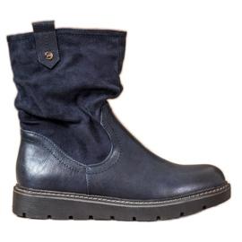 Ideal Shoes Trabajadores de plataforma azul