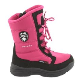 Botas de nieve con membrana American club SN13 rosa / negro