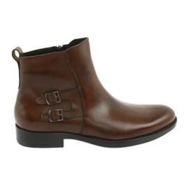 Botas de cuero Moskała marrón