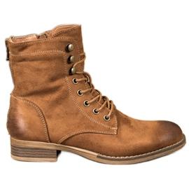 Goodin Tramperos de gamuza elegantes marrón
