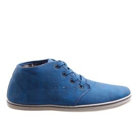 Zapatillas altas de moda TL354-6 Azul marino marina
