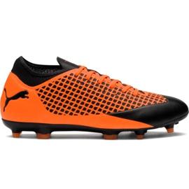 Botas de fútbol M Puma Future 2.4 Fg Ag 104839 02 naranja negro naranja