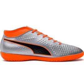 Botas de fútbol M Puma One 4 Syn It 104750 01 plata naranja, gris / plateado