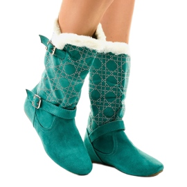 Botas verdes media pantorrilla R100